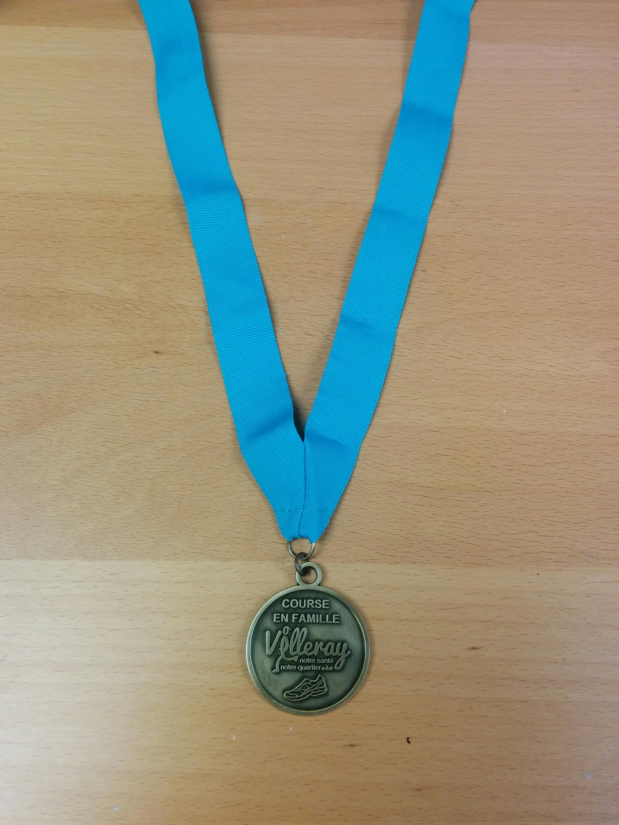 Médaille sur mesure pour la Course en Famille Villeray
