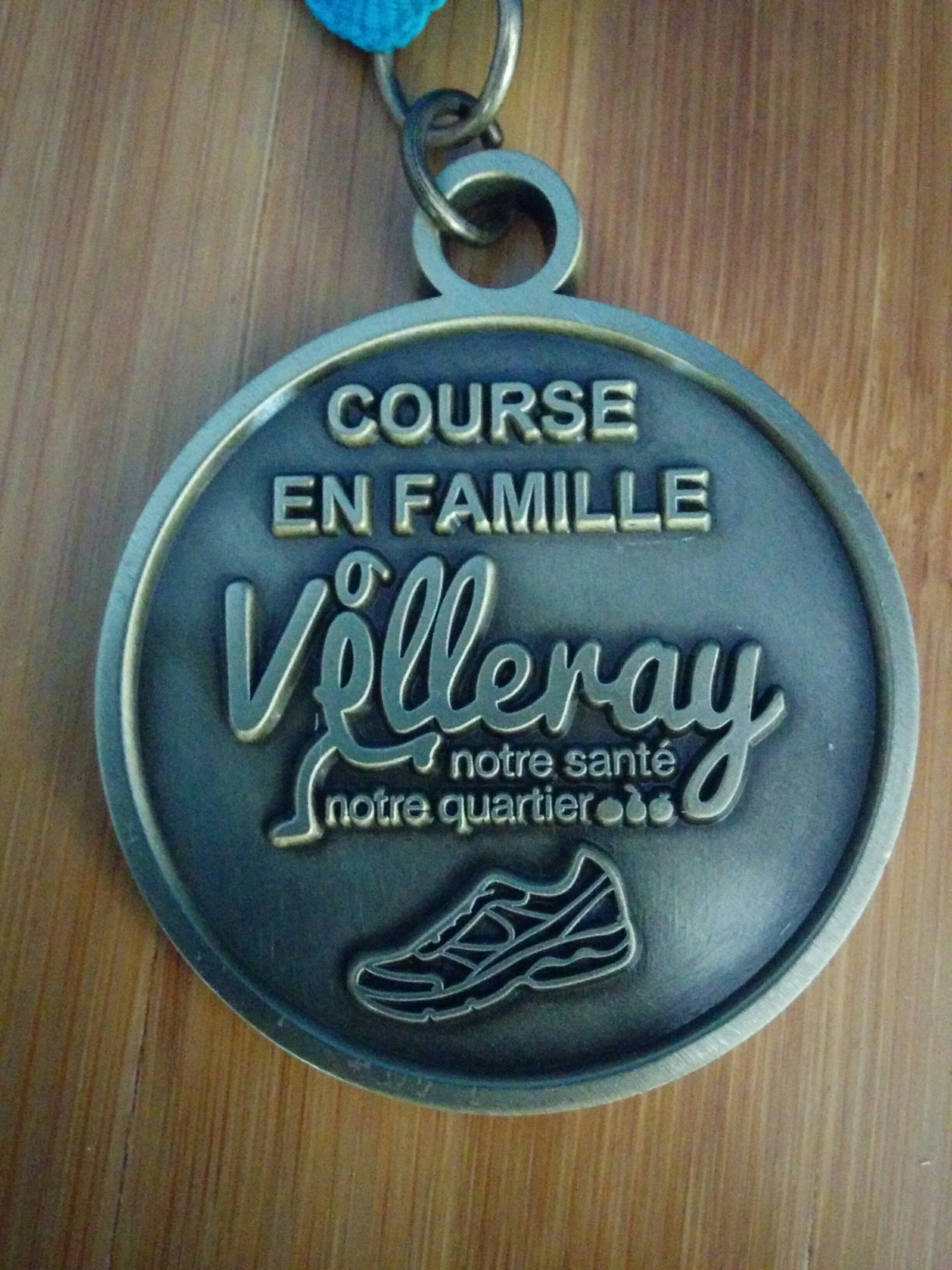 Médaille sur mesure pour la Course en Famille Villeray 2017